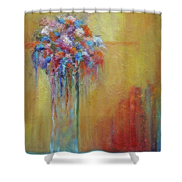Delivered In Time Shower Curtain