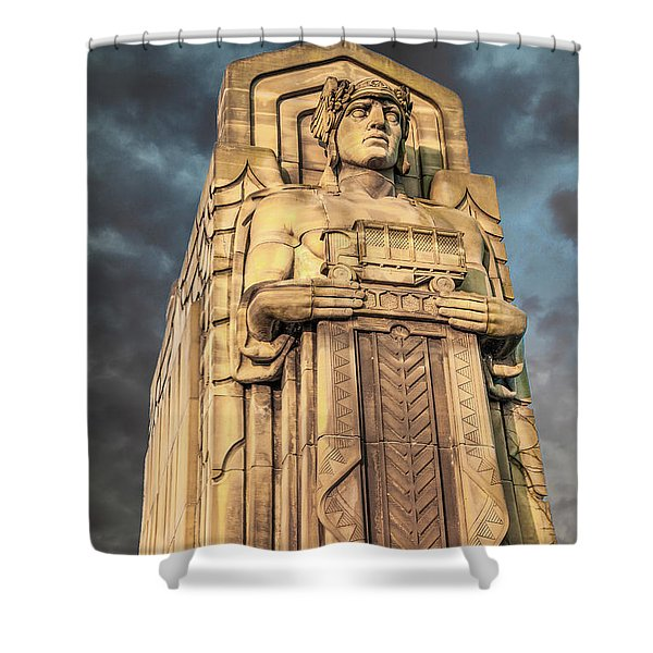 Delivery Truck Guardian Shower Curtain