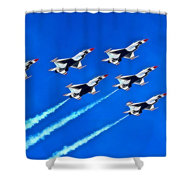 Delta Formation Shower Curtain