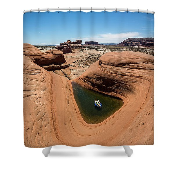 Delta Pool 2 Shower Curtain
