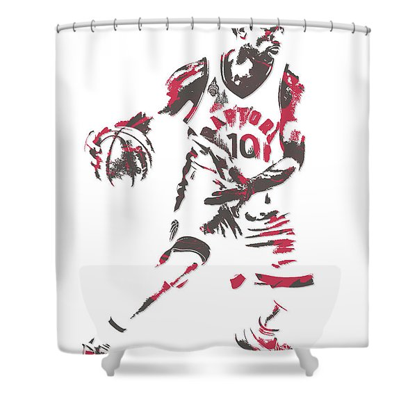 Demar Derozan Toronto Raptors Pixel Art 7 Shower Curtain