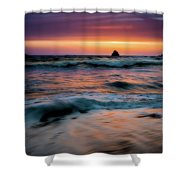 Demartin Beach Sunset Shower Curtain
