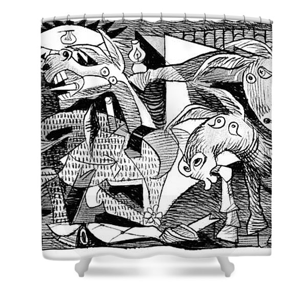 Democrat Guernica Shower Curtain