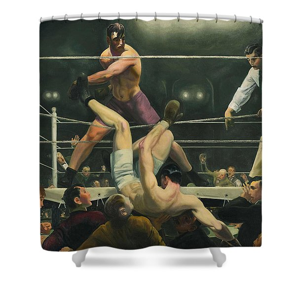 Dempsey And Firpo Boxing - George Bellows  Shower Curtain