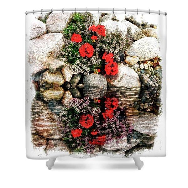 Denali National Park Flowers Shower Curtain