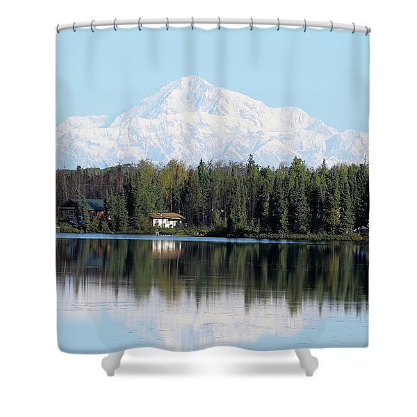 Denali From Kashwitna Lake Shower Curtain