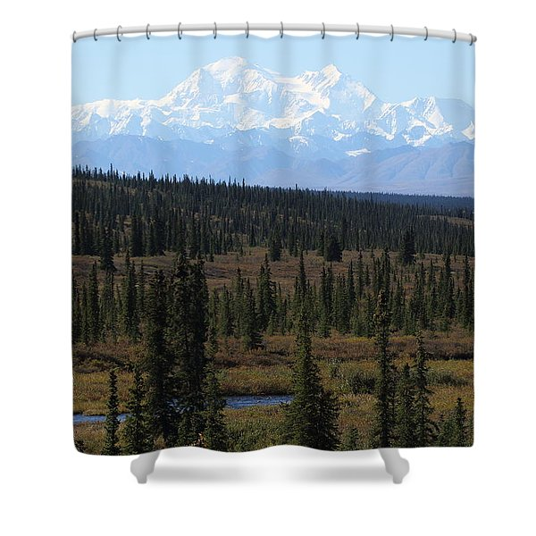 Denali From The Denali Highway Shower Curtain