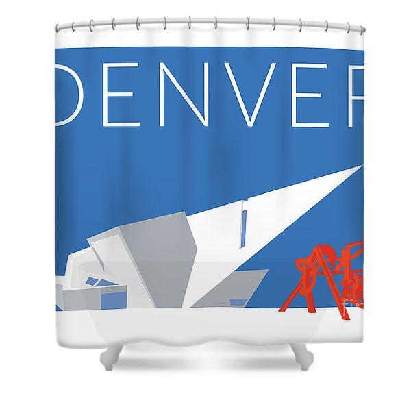 Denver Art Museum/blue Shower Curtain