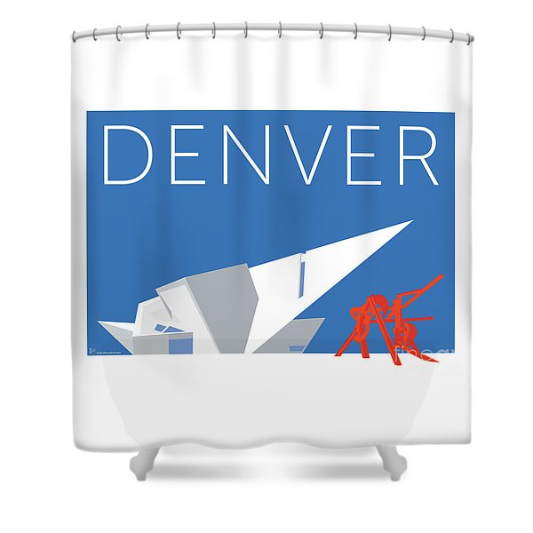 Denver Art Museum/blue Shower Curtain