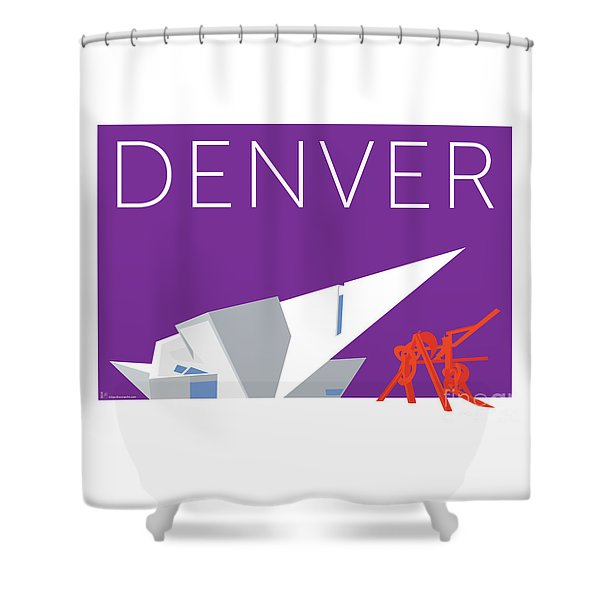 Denver Art Museum/purple Shower Curtain