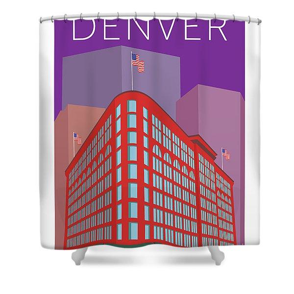 Denver Brown Palace/purple Shower Curtain