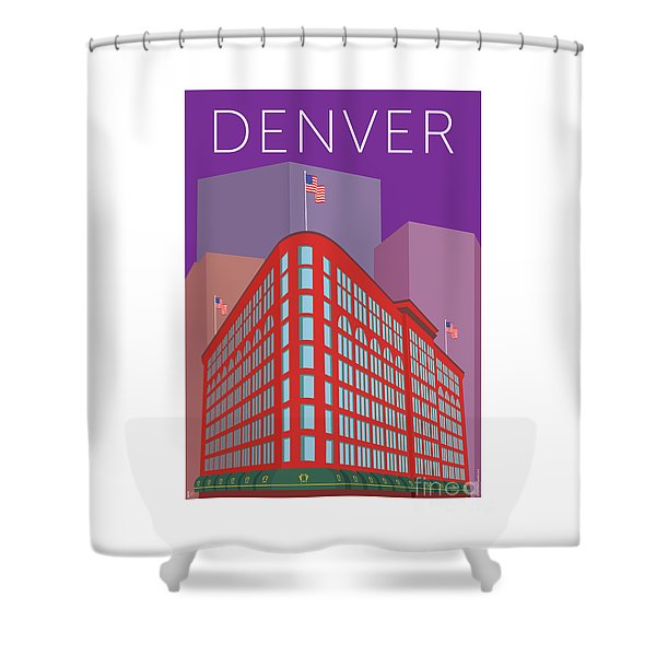 Denver Brown Palace/purple Shower Curtain
