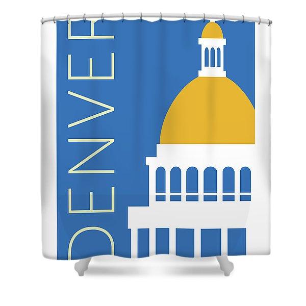 Denver Capitol/blue Shower Curtain