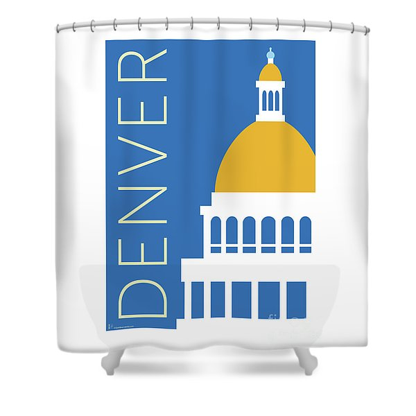 Denver Capitol/blue Shower Curtain