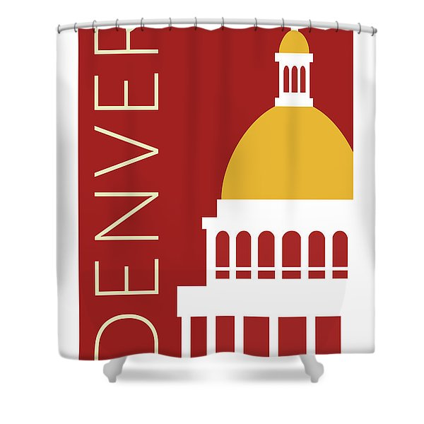Denver Capitol/maroon Shower Curtain