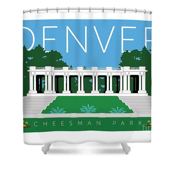 Denver Cheesman Park Shower Curtain
