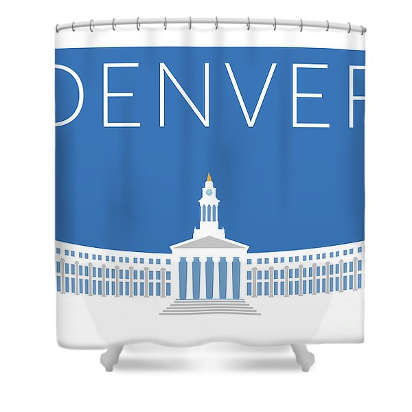 Denver City And County Bldg/blue Shower Curtain