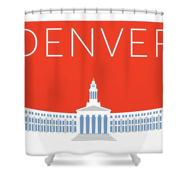 Denver City And County Bldg/orange Shower Curtain