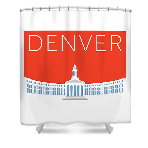 Denver City And County Bldg/orange Shower Curtain