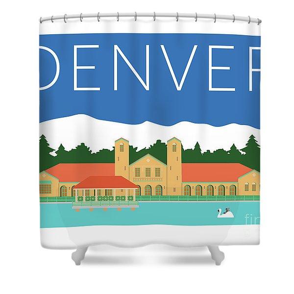 Denver City Park/blue Shower Curtain