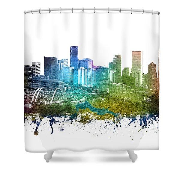 Denver Cityscape 01 Shower Curtain
