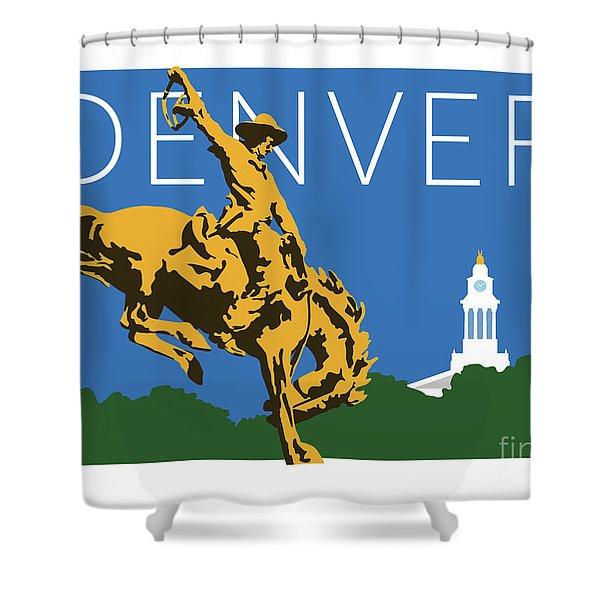 Denver Cowboy/dark Blue Shower Curtain