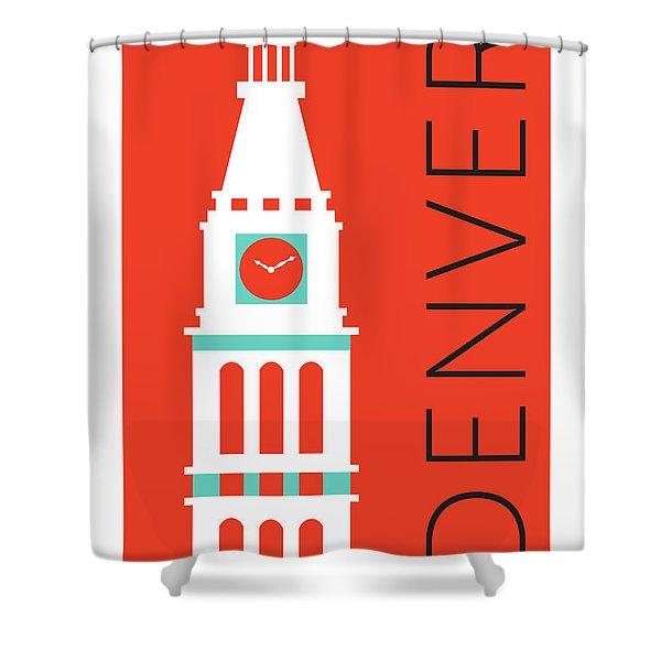 Denver D And F Tower/orange Shower Curtain