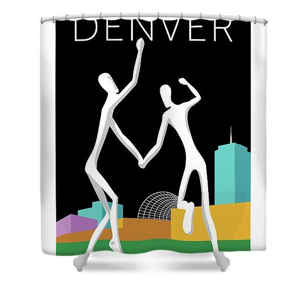 Denver Dancers/black Shower Curtain