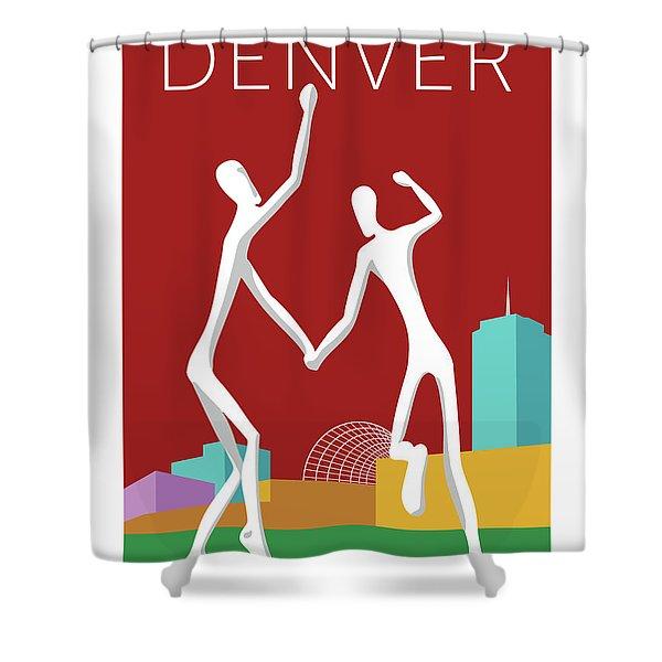 Denver Dancers/maroon Shower Curtain
