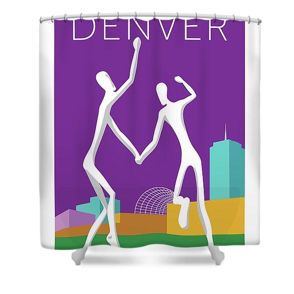 Denver Dancers/purple Shower Curtain