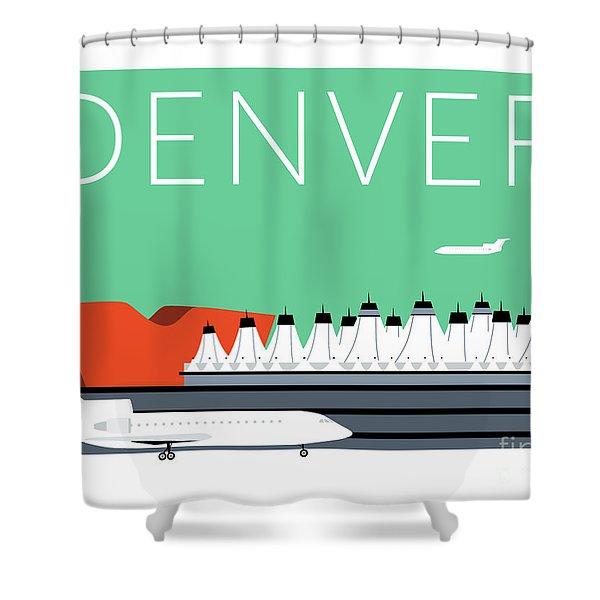 Denver Dia/aqua Shower Curtain