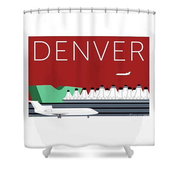 Denver Dia/maroon Shower Curtain