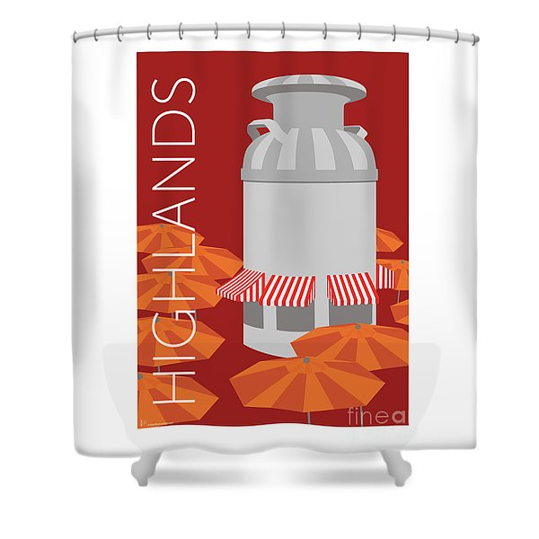 Denver Highlands/maroon Shower Curtain