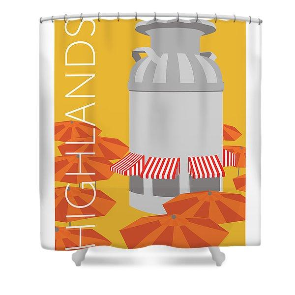 Denver Highlands/gold Shower Curtain