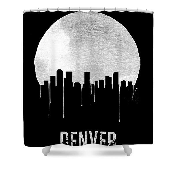 Denver Skyline Black Shower Curtain