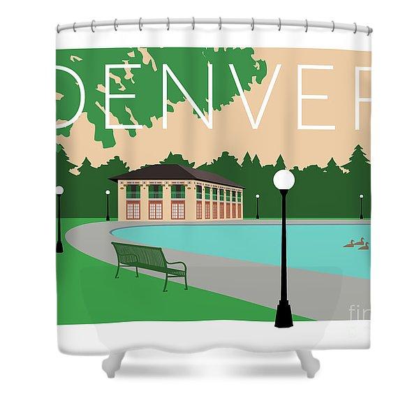 Denver Washington Park/beige Shower Curtain