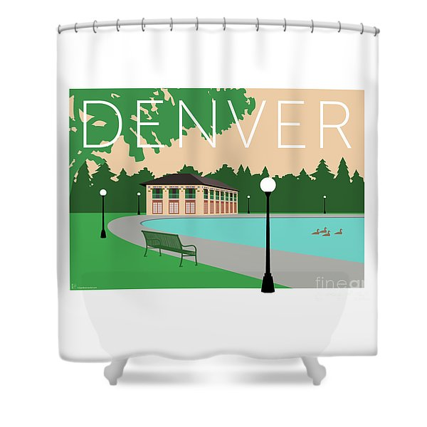 Denver Washington Park/beige Shower Curtain