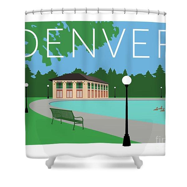 Denver Washington Park/blue Shower Curtain
