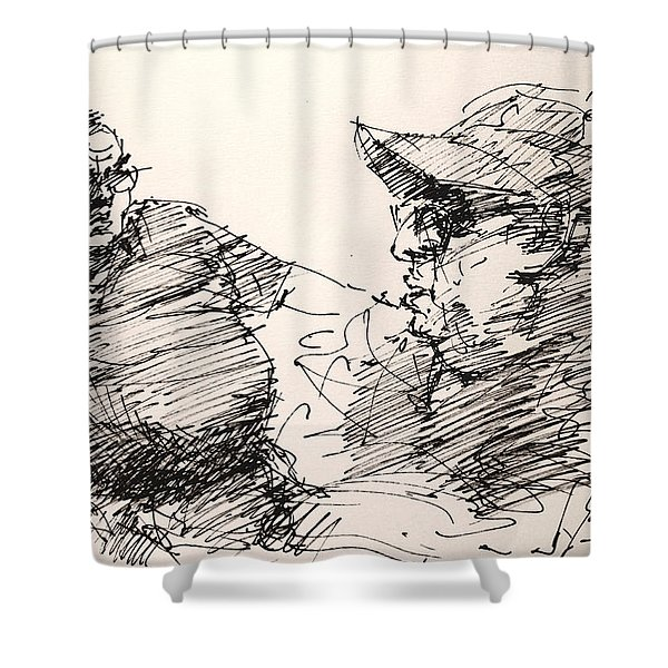 Deny And Jon Shower Curtain