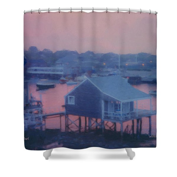Departing Nantucket Shower Curtain