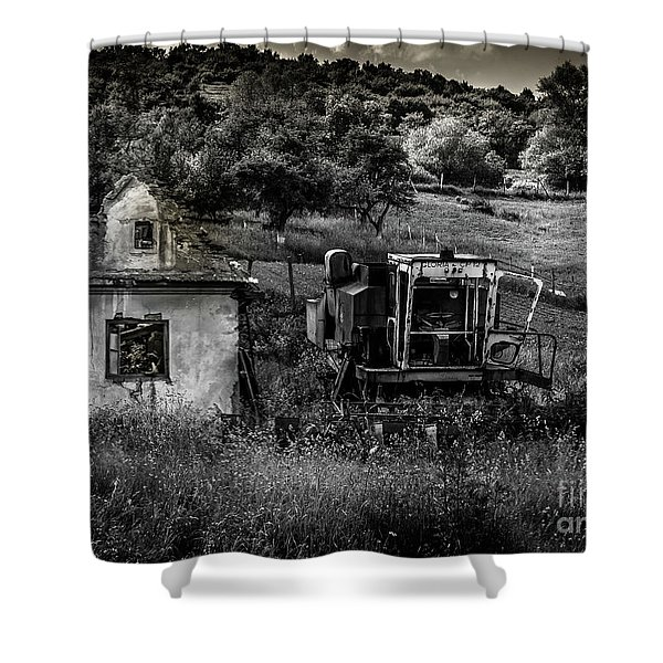 Derelict Farm, Transylvania Shower Curtain