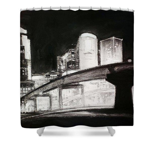 Des Moines Skyline #10 Shower Curtain