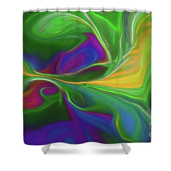 Descending Into Darkness Shower Curtain