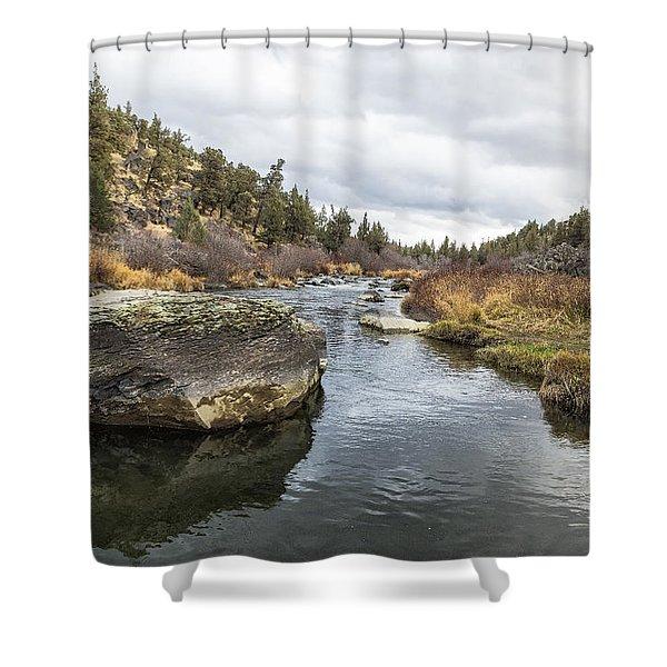 Deschutes River At Eagle Crest Shower Curtain