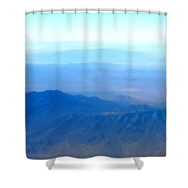 Desert Blues Shower Curtain