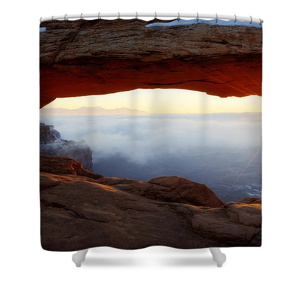 Desert Fog Shower Curtain