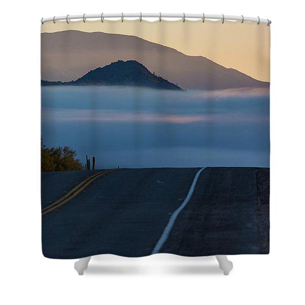 Desert Inversion Highway Shower Curtain