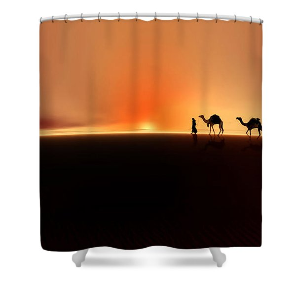 Desert Mirage Shower Curtain