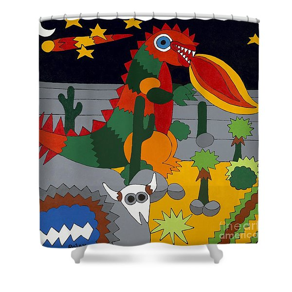 Desert Night Shower Curtain