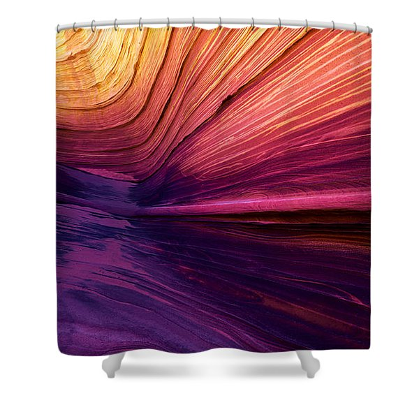 Desert Rainbow Shower Curtain